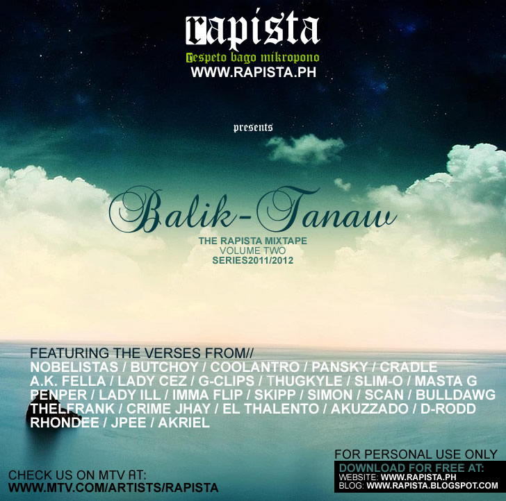 Rapista Annual Mixtape Volume 2 - Balik-tanaw (Series 2011-2012) - front cover