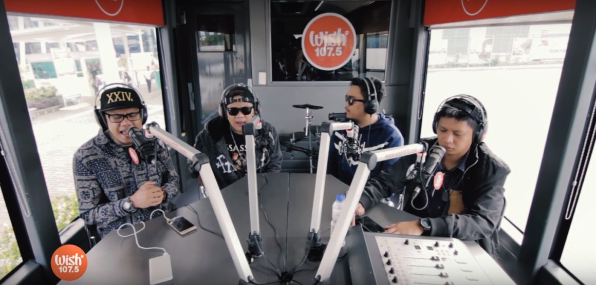 Smugglaz, Curse One, Dello and Flick-G performs Nakakamiss at Wish 107.5 Bus